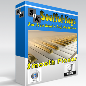 Smooth Pianos - 78 Progressions WAV, MIDI & PDF